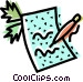 pen and paper Vector Clipart illustration