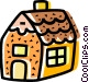 Gingerbread House Vector Clip Art graphic