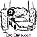 Car going through the wash Vector Clipart picture