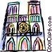 Notre Dame Vector Clipart graphic