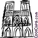Notre Dame Vector Clipart illustration