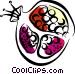 Pomegranate Vector Clip Art image