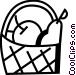 Food Baskets Vector Clipart image