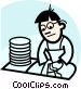Dish Washers Vector Clipart illustration