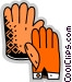 Gloves Vector Clip Art image