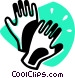 Rubber Gloves Vector Clip Art graphic