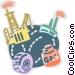 Refineries Vector Clip Art image