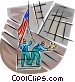 support workers at the WTC Vector Clip Art picture