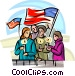 candle light vigil held for the lost souls Vector Clip Art graphic