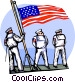 sailors heading out to sea Vector Clip Art graphic