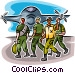 Airforce Vector Clipart graphic