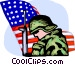 Marines Vector Clip Art graphic