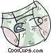 Diaper and safety pin Vector Clipart image