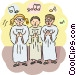 Choirs Vector Clipart illustration