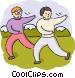 Tai Chi Vector Clip Art image