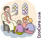 Parishioners Vector Clipart graphic