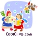 Christmas Carollers Carolers Vector Clipart image