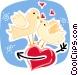 Love Birds Vector Clip Art graphic