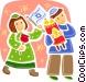 Children Vector Clip Art image