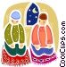 Priests and Ministers Vector Clipart picture