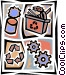 Recycle machine with gears Vector Clip Art picture