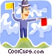 Semaphore Vector Clipart graphic