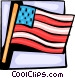 American flag Vector Clip Art image
