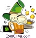 St. Patrick's day beer and pot of gold Vector Clipart image