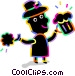 celebrating on St. Patrick's day Vector Clipart picture