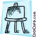 Easels Vector Clip Art graphic