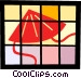 Asian sun hat Vector Clip Art picture