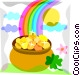 St. Patrick's Day Pot of Gold Vector Clip Art image