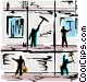 Window Cleaning Vector Clipart picture
