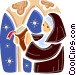 Nuns Vector Clip Art picture