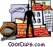 Chimney Sweeping Vector Clipart image