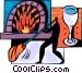 Glass Blowing Vector Clip Art picture