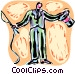 Circus announcer with whip and Vector Clipart picture