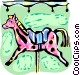 Merry-Go-Round horse Vector Clip Art picture