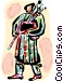 Bagpipers Vector Clipart graphic