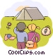Campers Vector Clipart illustration