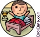 Sleeping Vector Clipart graphic