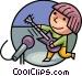 Amateurs Vector Clipart illustration