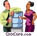 Co-workers talking by the Vector Clipart picture