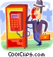Telephone Booths Vector Clipart image