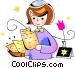 jewish girl Vector Clip Art image