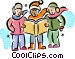 Christmas Carollers Carolers Vector Clip Art picture