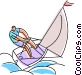 man sailing Vector Clipart picture