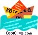 paper boat Vector Clip Art picture