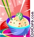 Bowl of rice Vector Clip Art picture