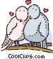 Love Birds Vector Clipart graphic